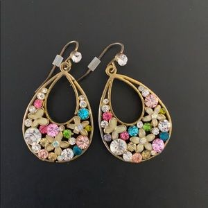 Cute multicolored floral earrings